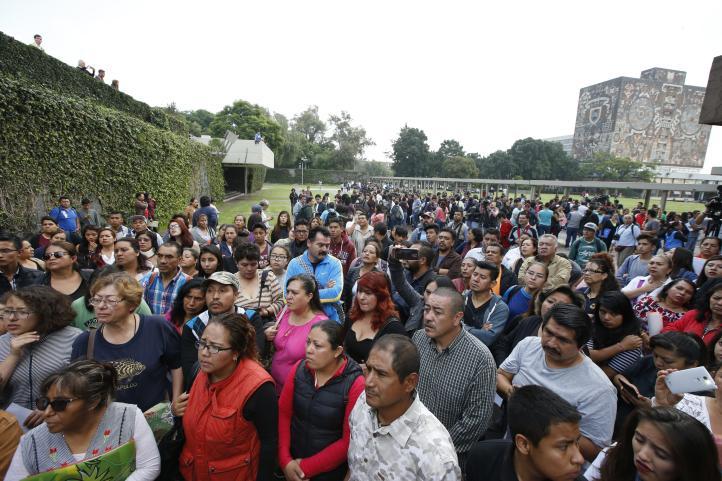 Tendrán lugar en la UNAM sólo 1,400 de los 11 mil casos que se revisarán