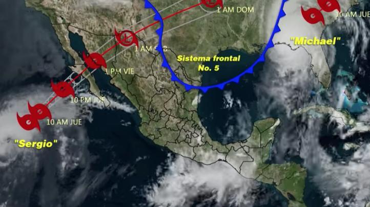 Pronóstico del tiempo para el 11 de octubre de 2018