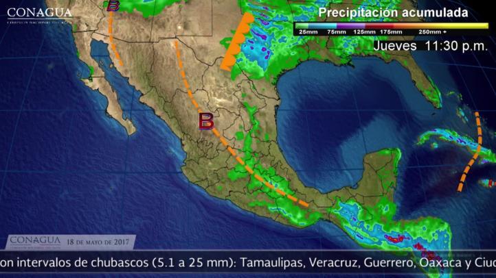 Pronóstico del tiempo para el 18 de mayo