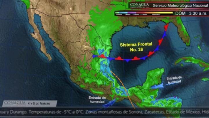 Pronóstico del tiempo del 4 y 5 de febrero