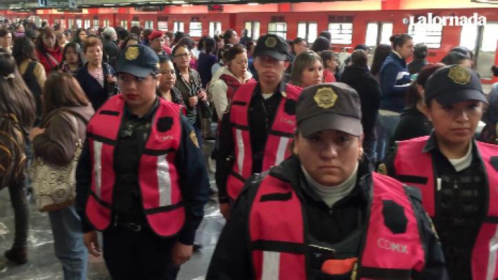 En el Metro, operativo de vigilancia enfocado a la seguridad de las mujeres