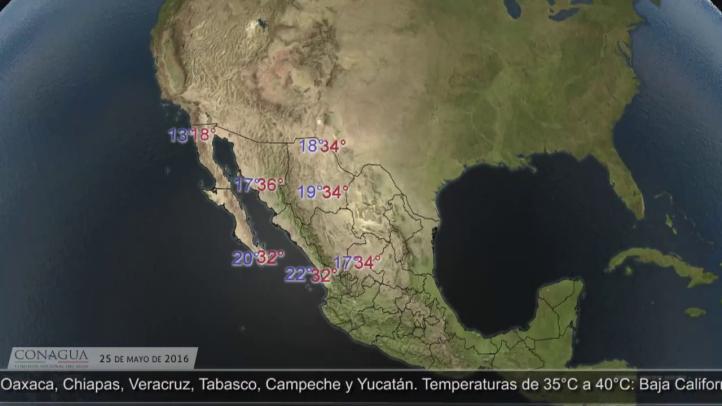 Pronóstico del tiempo para el 25 de mayo