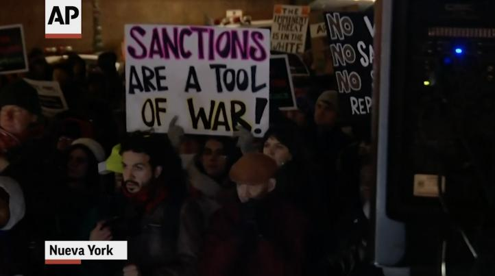 Protestan por acciones de Estados Unidos con respecto a Irán