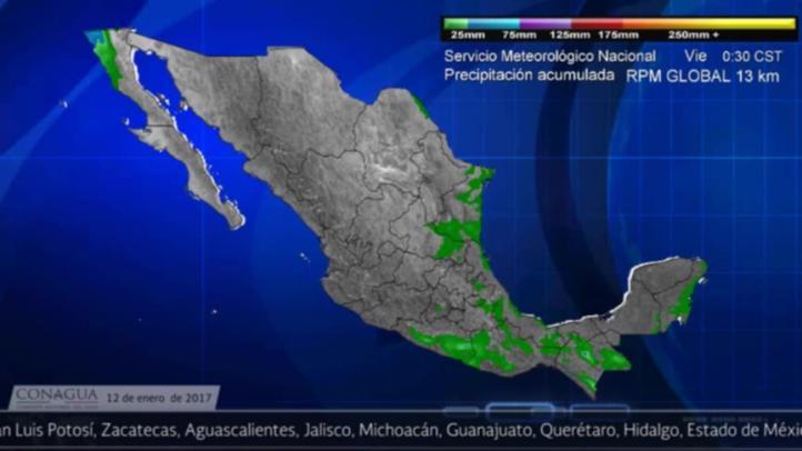 Pronóstico del tiempo para el 12 de enero