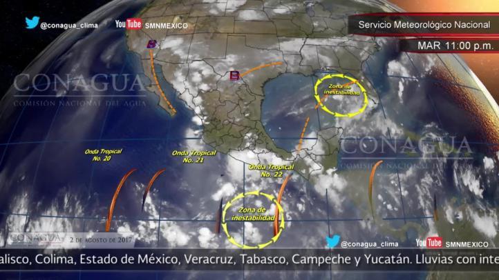 Pronóstico del tiempo para el 2 de agosto