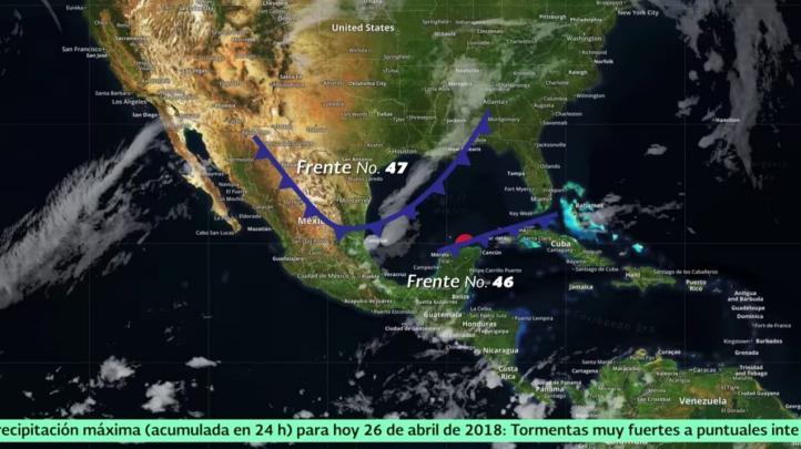 Pronóstico del tiempo para el 26 de abril de 2018