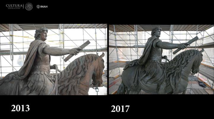 Así fue la restauración de El Caballito