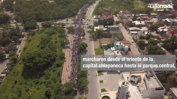 Maestros y normalistas de Chiapas exigen abrogar la reforma educativa