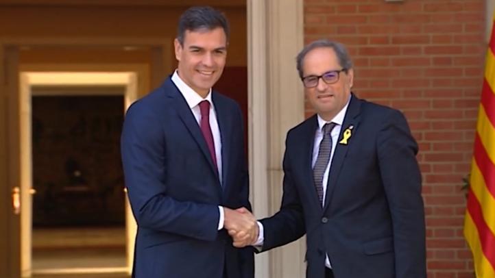 Presidente catalán invita formalmente al español