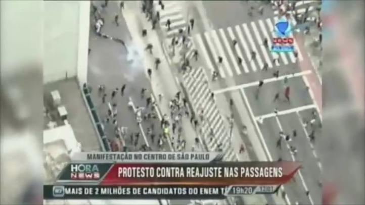 Protestas en Sao Paulo por alzas en tarifas de transporte público