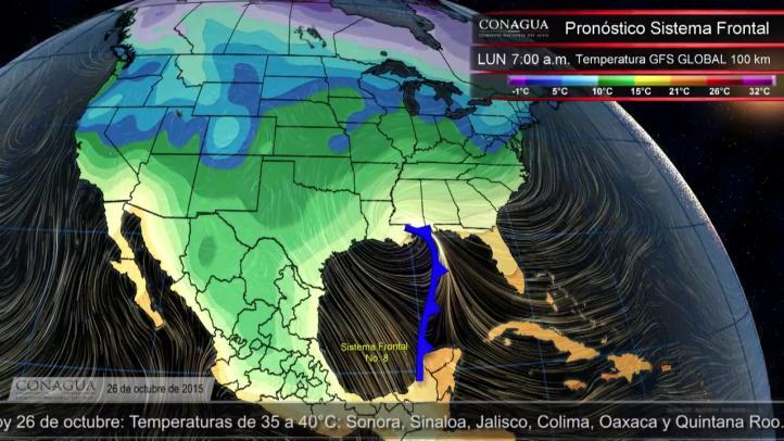 Pronóstico del tiempo para el 26 de octubre de 2015
