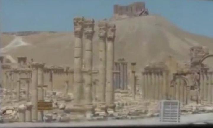 Primeras imágenes muestran destrucción de ruinas de Palmira
