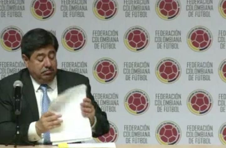 Renuncia presidente de Federación Colombiana de Futbol