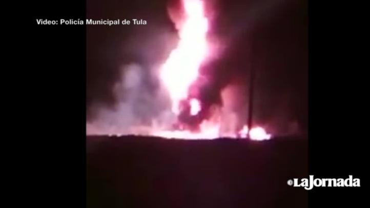Explosión ducto Pemex en Hidalgo
