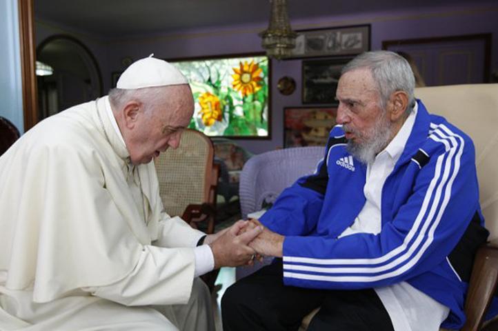 Se reúne el Papa Francisco con Fidel Castro