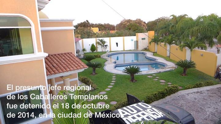 La casa de El Tucán, presunto jefe regional de Los Caballeros Templarios
