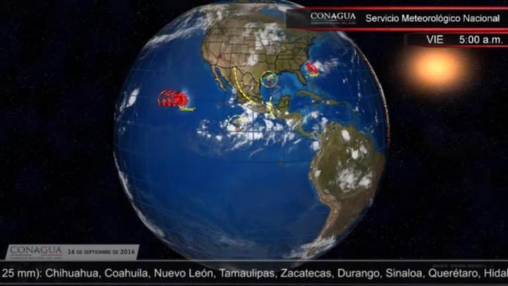 Pronóstico del tiempo para el 16 de septiembre de 2016