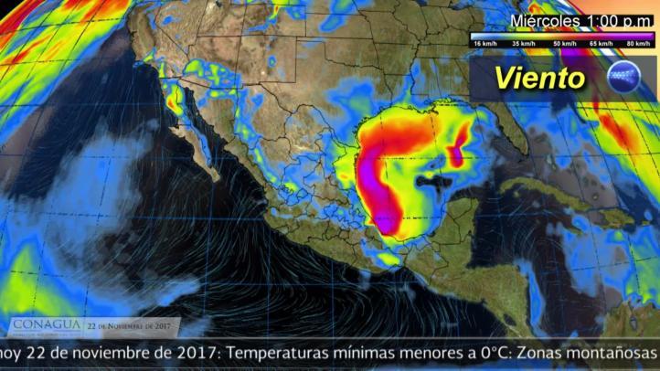 Pronóstico del tiempo para el 22 de noviembre