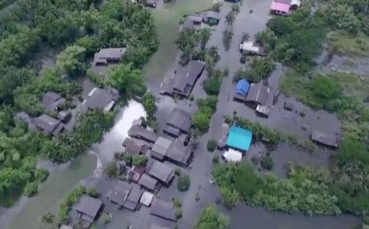 Inundaciones en el sur de Tailandia