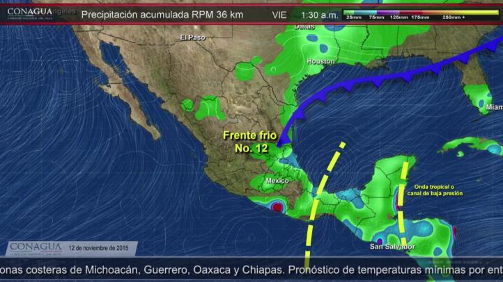 Pronóstico del Tiempo para el 12 de noviembre