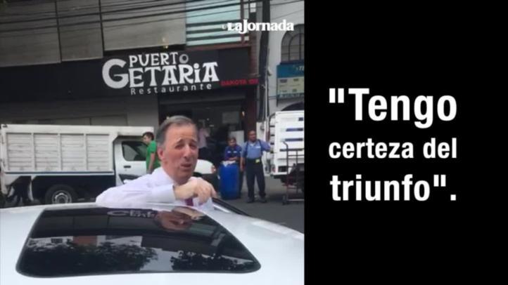 """""""Tengo certeza del triunfo"""": José Antonio Meade"""