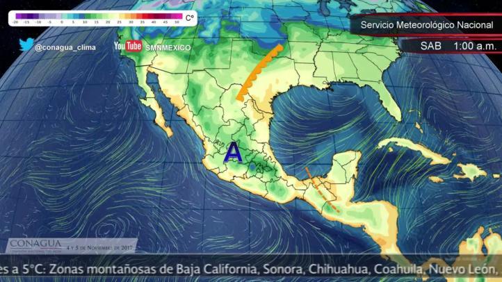 Pronóstico del tiempo para el 4 y 5 de noviembre