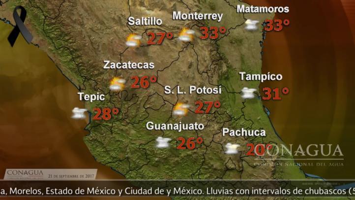 Pronóstico del tiempo para el 21 de septiembre