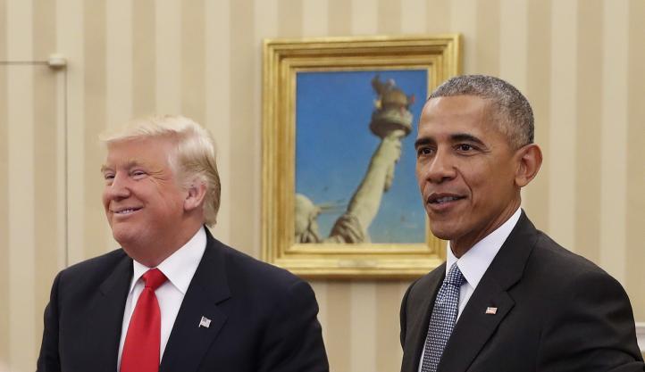 Se reúnen Barack Obama y Donald Trump