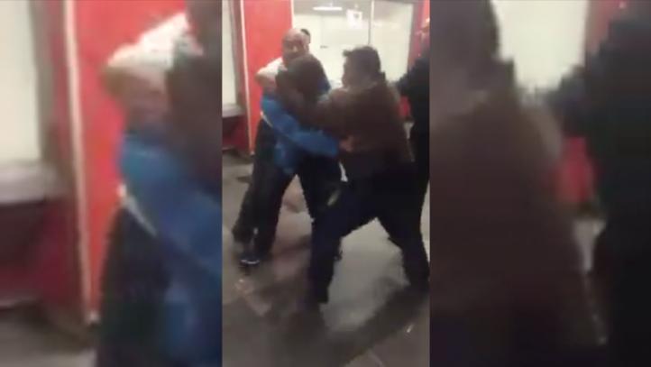 Riña en el Metro Pino Suárez