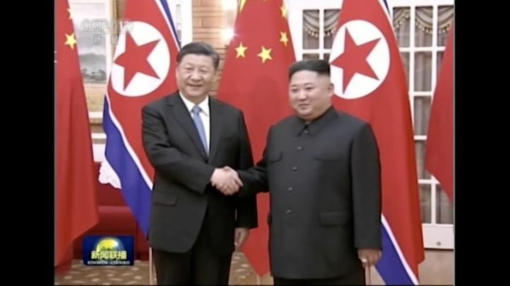 Xi Jinping se reúne con Kim Jong Un en su visita a Norcorea
