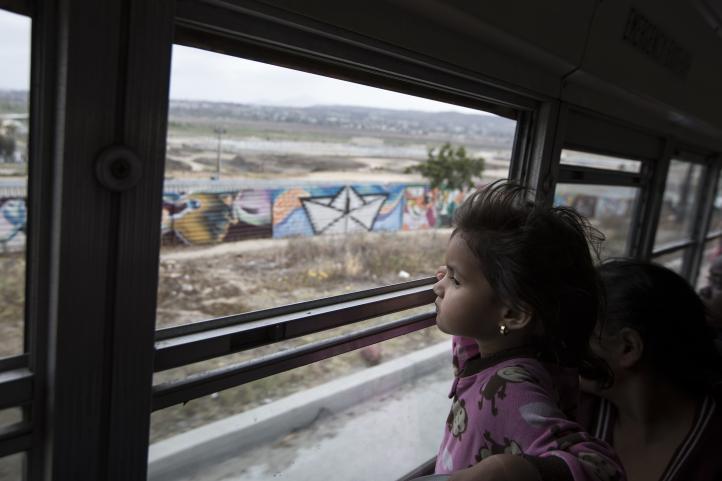 La caravana migrante pide asilo en EU