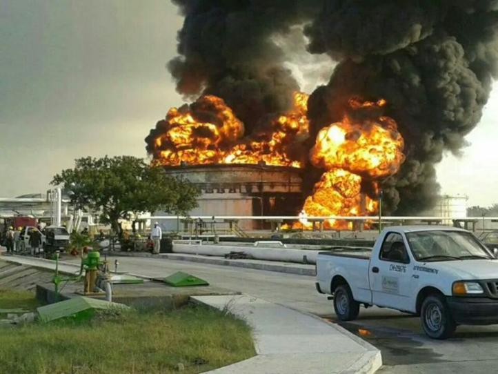 Incendio en la refinería de Cd. Madero