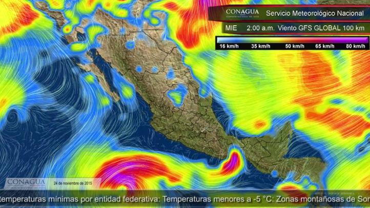 Pronóstico del tiempo para el 24 de noviembre