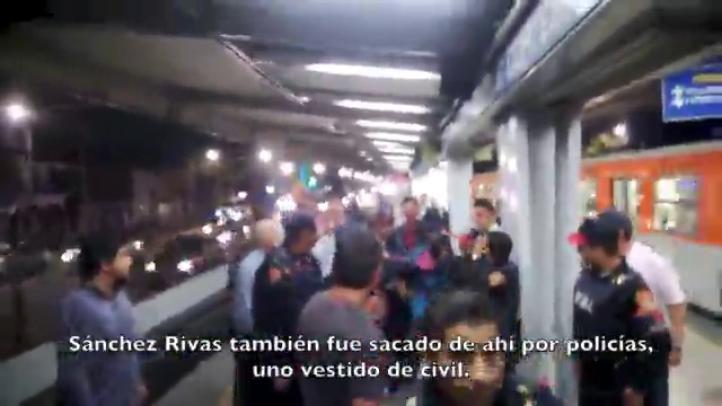 Sacan del metro con violencia a vagoneros… y usuarios