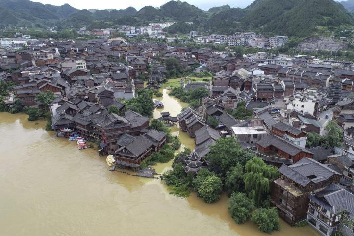 Miles de desplazados por lluvias en el sur de China