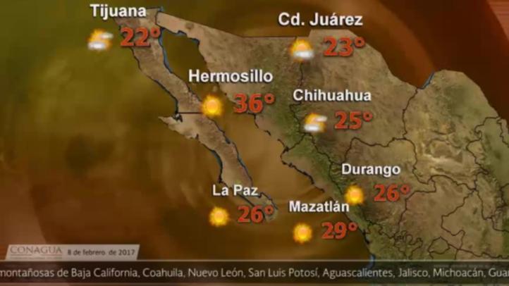 Pronóstico del tiempo para el 8 de febrero