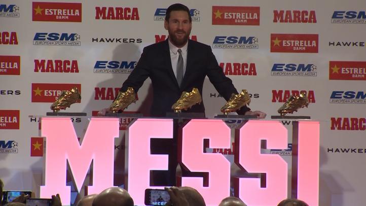 Messi recoge su quinta Bota de Oro