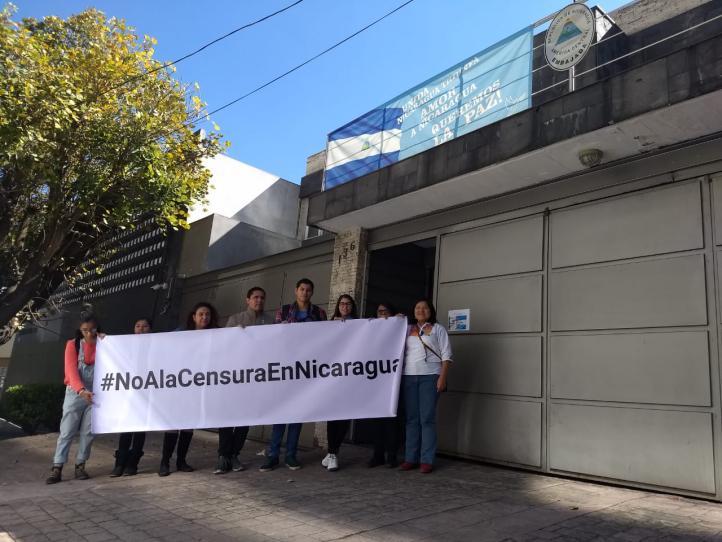 Periodistas de México y más países exigen detener las violaciones a la libertad de prensa en Nicaragua