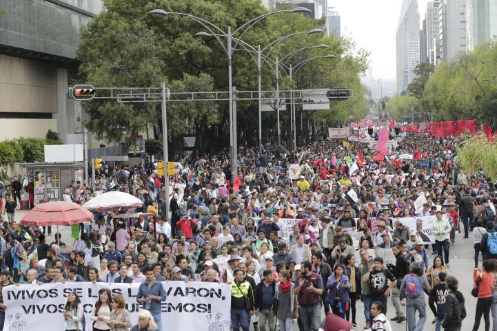 Segundo aniversario de Ayotzinapa