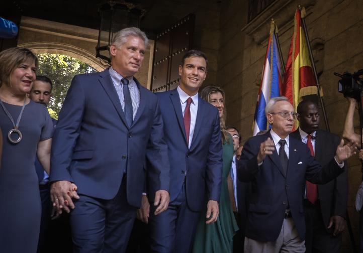 El primer ministro español Pedro Sánchez visita Cuba