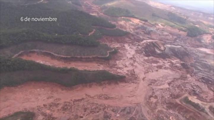 Continúan las afectaciones por el deslave de minera Samarco en Brasil