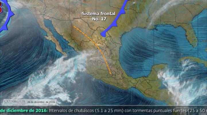 Pronóstico del tiempo para el 26 de diciembre