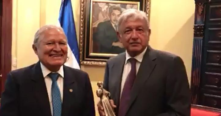 López Obrador se entrevista con el presidente de El Salvador
