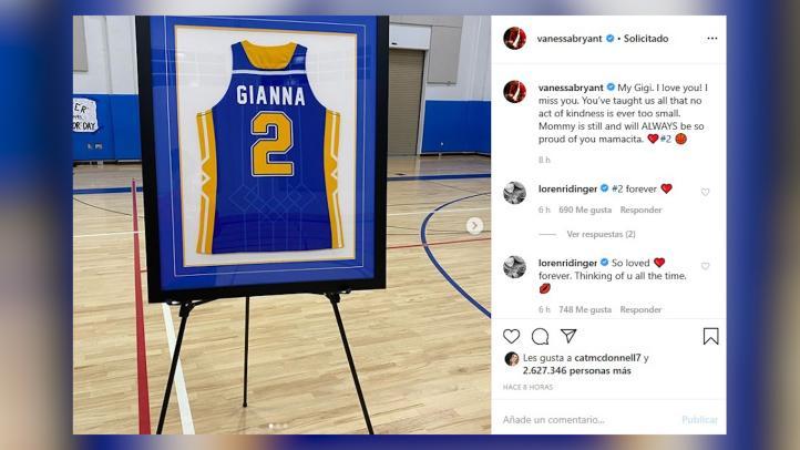 Vanessa Bryant recuerda a su hija Gigi