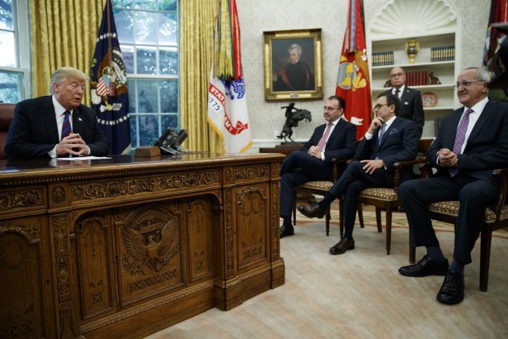 """México y EU alcanzan acuerdo comercial; """"un convenio increíble"""": Trump"""