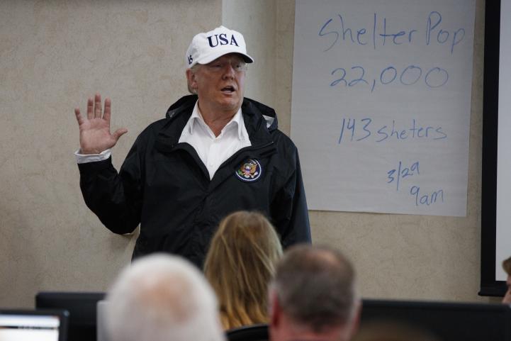 Trump visita la zona afectada por Harvey
