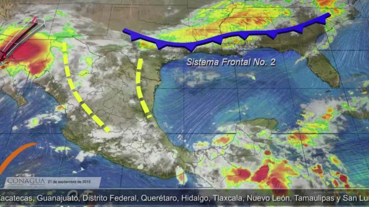 Continúan lluvias en gran parte de México