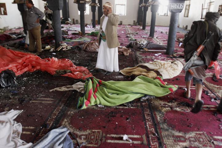 Atentados suicidas a mezquitas en Yemen
