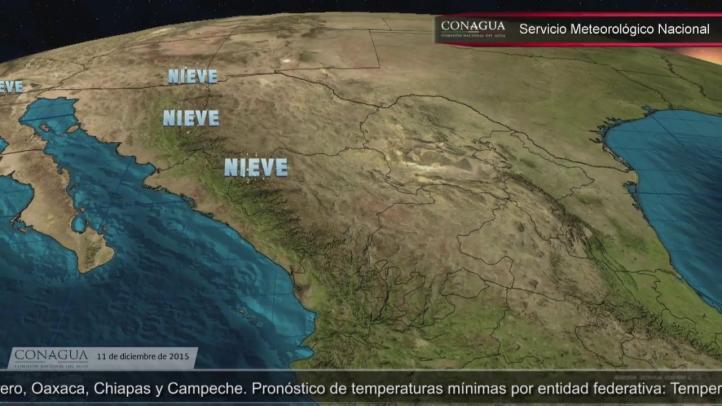 Pronóstico del tiempo para el 11 de diciembre