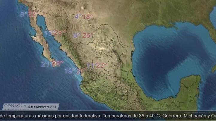 Pronóstico del Tiempo para el 5 de noviembre